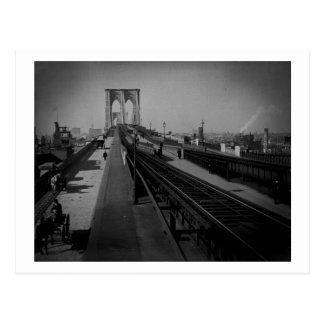 Vintage Brooklyn Bridge Pre-1900 Postcard