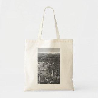 Vintage Brooklyn Map Tote Bag in Black & White