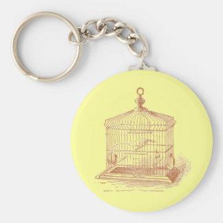Vintage Brown Bird Cage Keychain