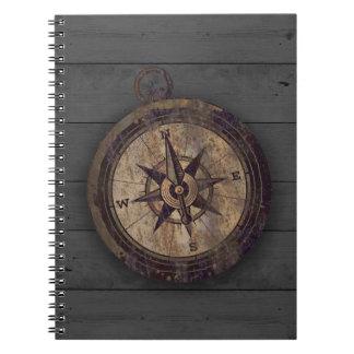 Vintage Brown Compass Notebook