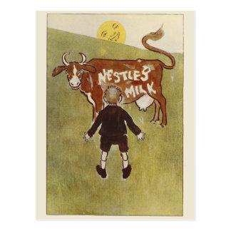 Vintage Brown Cow Nestle's Milk Postcard