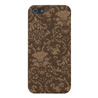 Vintage Brown Damask iPhone 4 Skin iPhone 5 Cases