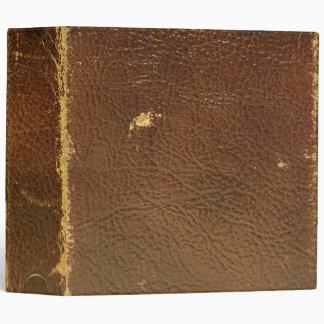Vintage Brown Leather faux Binders