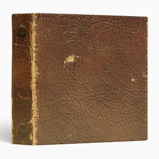 Vintage Brown Leather faux Vinyl Binders