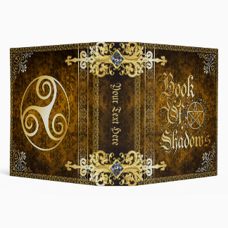 🔮Vintage Brown Medieval Witchcraft Book Of Shadow Vinyl Binder