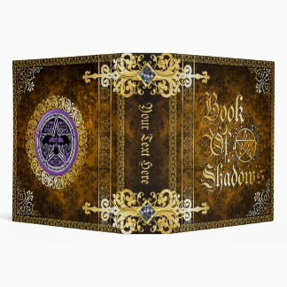 🔮Vintage Brown Medieval Witchcraft Book Of Shadow Vinyl Binder