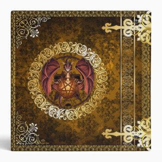 🔮Vintage Brown Medieval Witchcraft Book Of Shadow Vinyl Binders