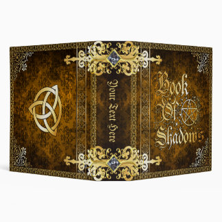 Vintage Brown Medieval Witchcraft Book Of Shadows 3 Ring Binder