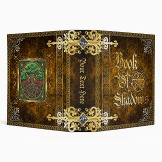Vintage Brown Medieval Witchcraft Book Of Shadows 3 Ring Binder