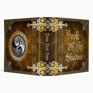 Vintage Brown Medieval Witchcraft Book Of Shadows 3 Ring Binders