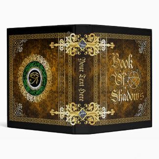 Vintage Brown Medieval Witchcraft Book Of Shadows Vinyl Binders