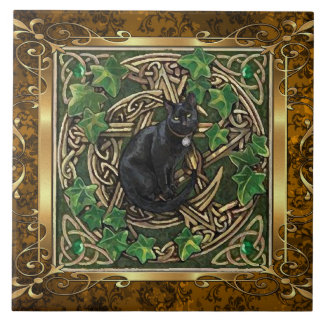 Vintage Brown Medieval Witchcraft Ritual Offering Tile