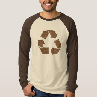 Vintage Brown Recycle Sign Tee Shirt