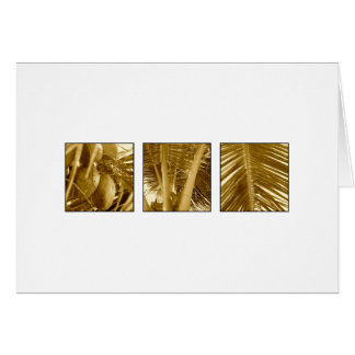 Vintage Brown Sepia Tropical Palm Trees & Coconuts Card
