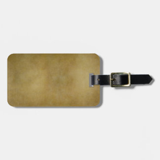 Vintage Brown Tan Parchment Personalized Template Bag Tag
