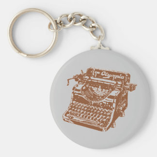 Vintage Brown Typewriter Keychain