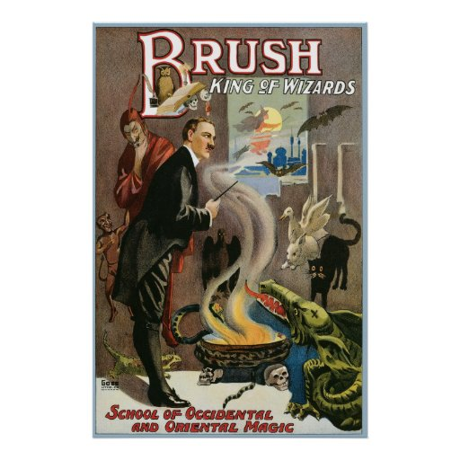 Vintage Brush, King of Wizards 1915 Posters