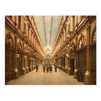 Vintage Brussels Belgium St. Hubert's Gallery Postcard