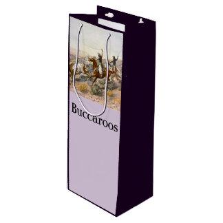 Vintage Buccaroos Charles Marion Russell Wine Gift Bag