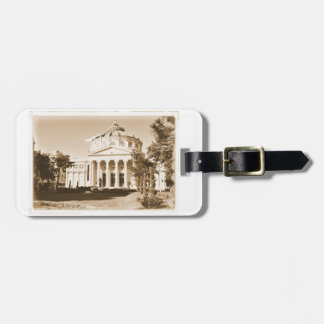 Vintage Bucharest Luggage Tag