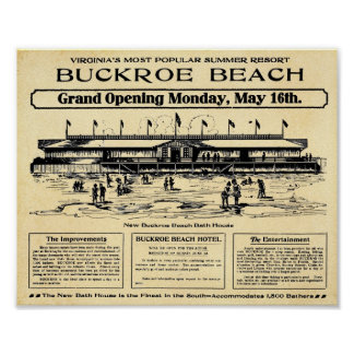 Vintage Buckroe Beach Virginia Print