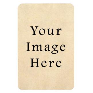Vintage Buckskin Beige Parchment Paper Background Magnet