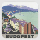 Vintage Budapest Hungary Square Sticker