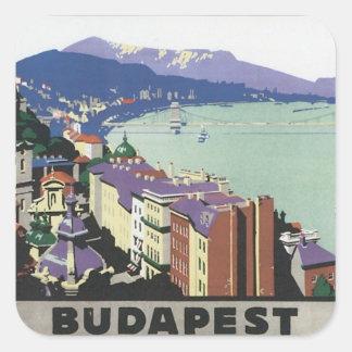 Vintage Budapest Hungary Square Sticker