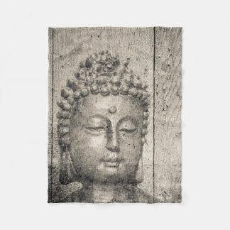 Vintage Buddha Buddhism Yoga Fleece Blanket