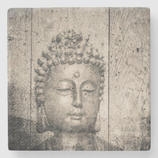 Vintage Buddha Buddhism Yoga Stone Coaster