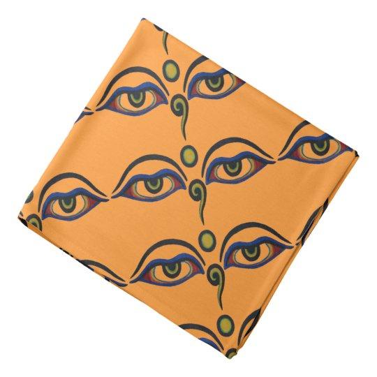 Vintage Buddha Eyes Art Pattern Bandana