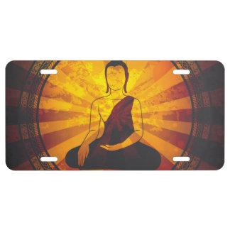 Vintage Buddha License Plate