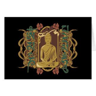 Vintage Buddha Mantra Card