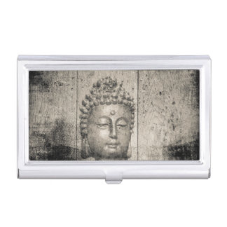 Vintage Buddha Yoga Faith Business Card Case