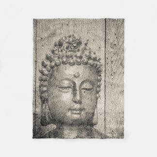 Vintage Buddha Yoga Faith Fleece Blanket
