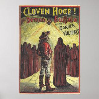 """Vintage Buffalo Bill Poster """"Cloven Hoof!"""""""