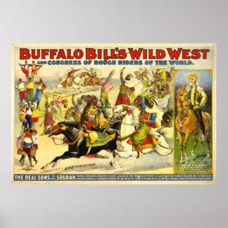 VINTAGE Buffalo Bill POSTER (repro)