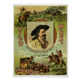 Vintage Buffalo Bill Wild West Show Poster