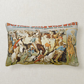 Vintage Buffalo Bill's Wild West Show Lumbar Pillow