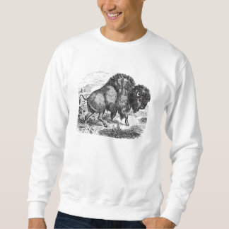 Vintage Buffalo Retro Bison Animal Illustration Sweatshirt