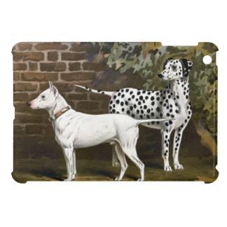 Vintage Bull Terrier and Dalmatian dog art iPad Mini Case