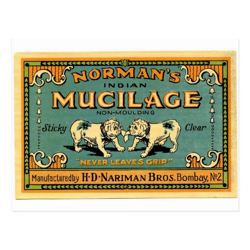 Vintage Bulldog Tape Advertisement Post Card