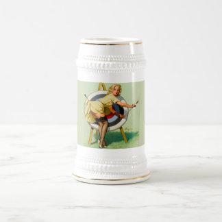 Vintage Bullseye Beer Stein