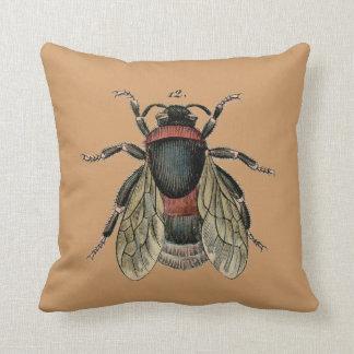 Vintage Bumblebee Pillow