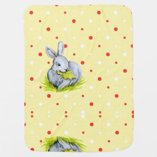 Vintage Bunny Baby Blanket