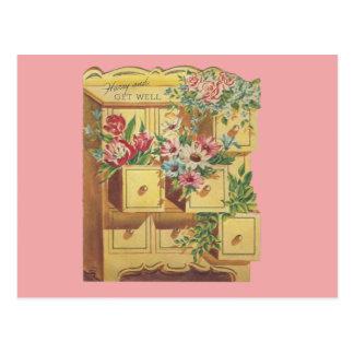 Vintage Bureau Of Get Well Wishes Postcard