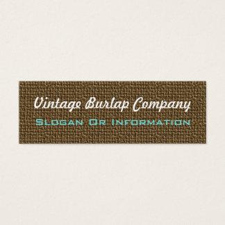 Vintage Burlap Business Cards