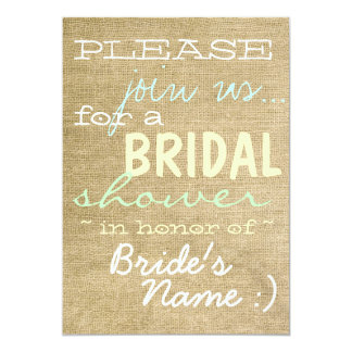 Vintage Burlap Country Bridal Shower Invitation :)