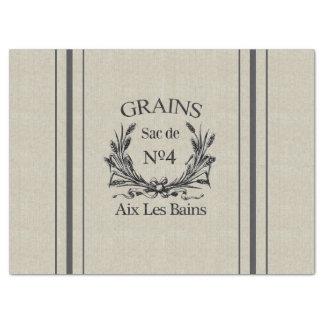 Vintage Burlap Grain Sack Tissue Paper