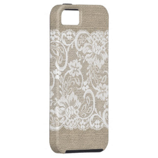 Vintage Burlap & Lace iPhone Case